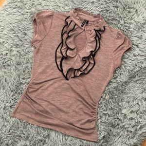 Blush pink blouse size medium
